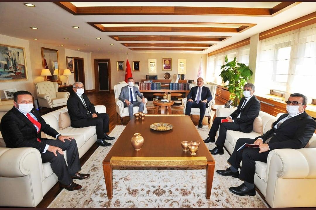 Kültür ve Turizm Bakanını Ziyaret Ettik