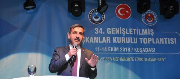 Kamu-Sen Genel Başkanı Kahveci Türk Ulaşım-Sen Başkanlar Kurulu Toplantısına Katıldı