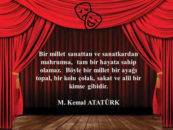 27 Mart Dünya Tiyatrolar Gününüz Kutlu Olsun