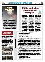 Türk Kültür Sanat-Sen Gazetesi / Şubat 2012