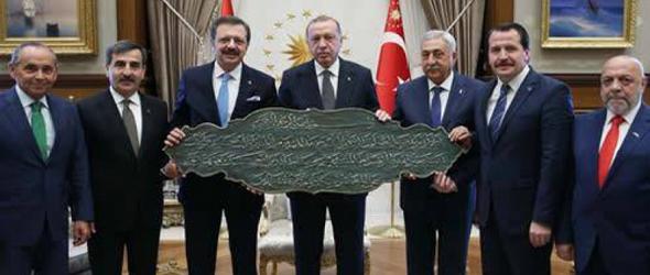 Karma İstişare Komitesi'nden Cumhurbaşkanı Erdoğan'a Ziyaret