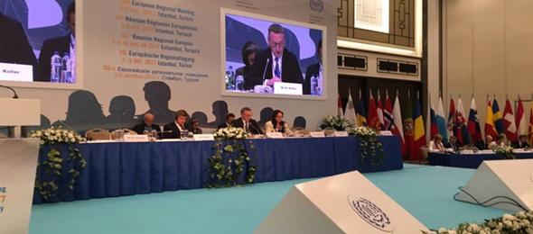 Türkiye Kamu-Sen Genel Başkanı 10. ILO Bölge Toplantısında Konuştu