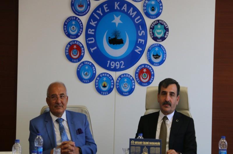 Mersin Büyükşehir Belediye Başkanı Burhanettin Kocamaz Konfederasyonumuzu Ziyaret Etti